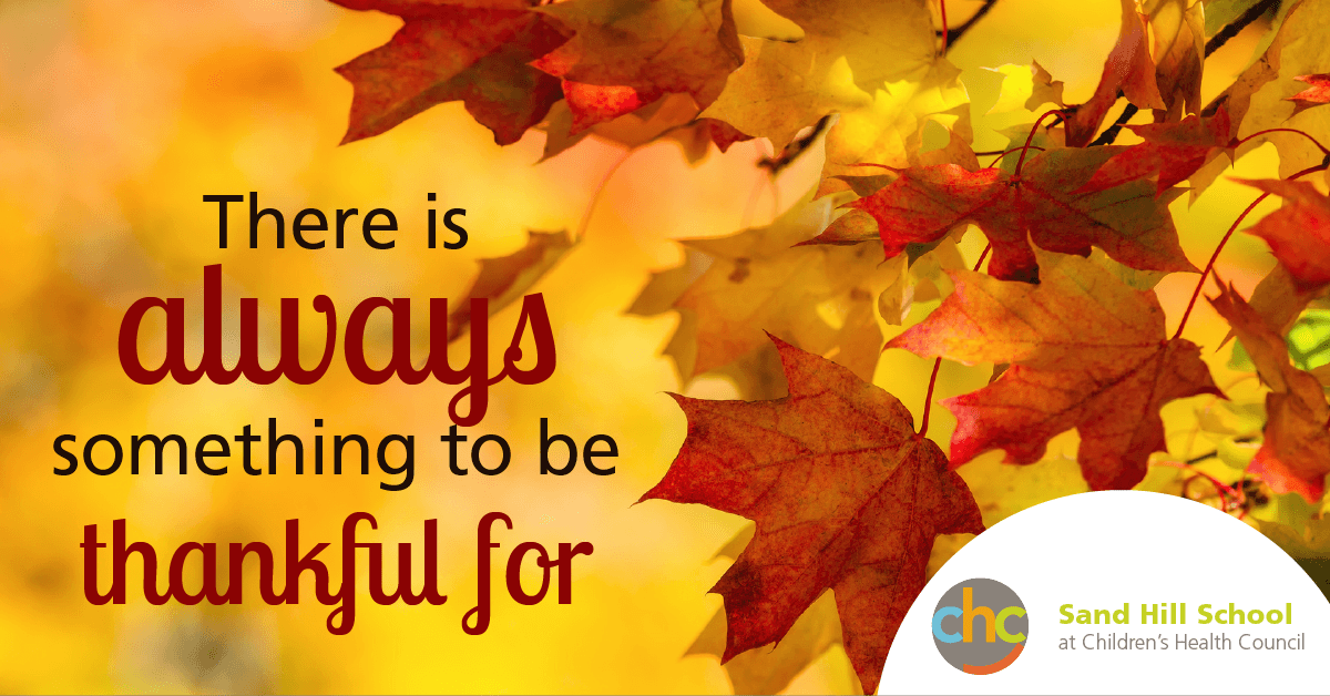 There is always something to be thankful for Sand Hill School