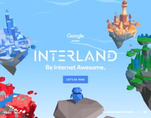 Interland online safety game